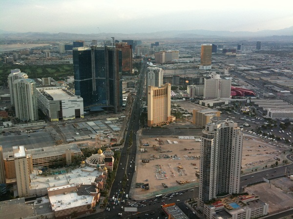 Aerial view of the Las Vegas Strip from the Stratosphere